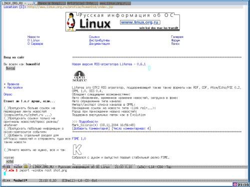 Скриншот с LOR