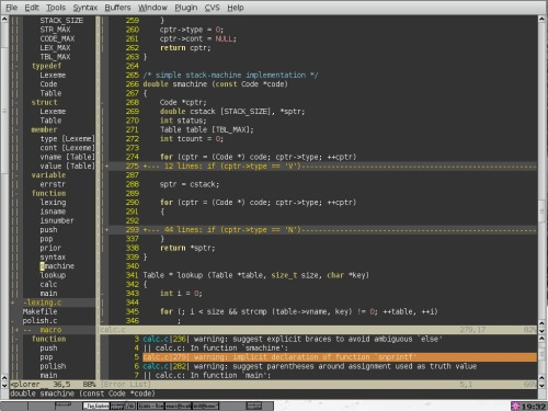 vim - Vi IMproved, a programmers text editor