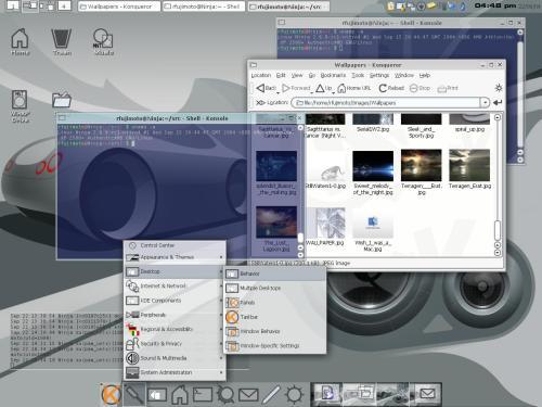 ниндзя KDE