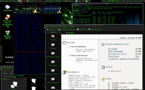 Linux Desktop на работе.