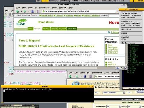 Простенький FluxBox на SuSE 9.0