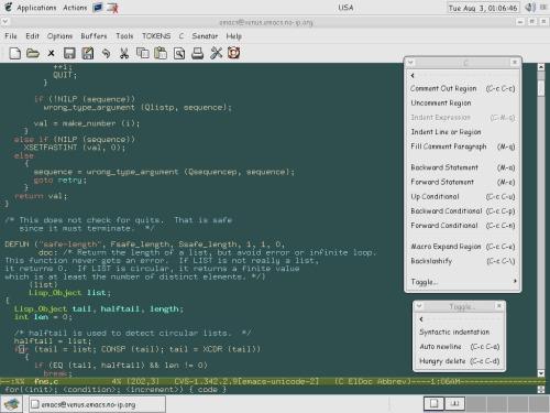 GNU emacs 22.0 (unicode emacs)