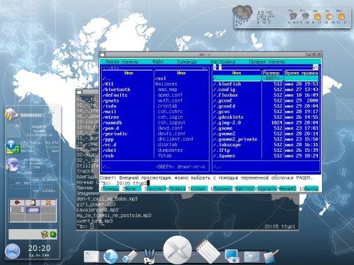OpenBox + gDesklets