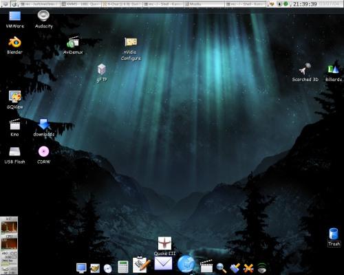 KDE 3.2.3 + XFree86 4.4