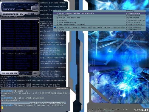fvwm и панель на FvwmScript