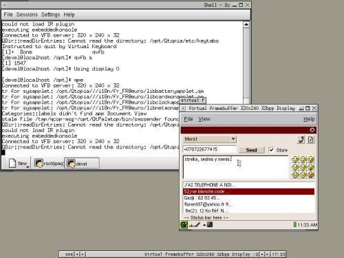 iPAQ+Linux+IrDA+Nokia