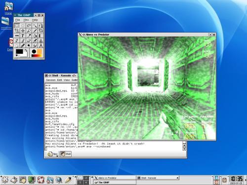 Aliens vs. Predator on Linux