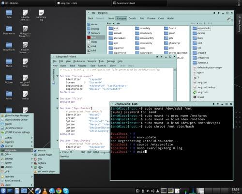 KDE 4 - строгий классический десктоп