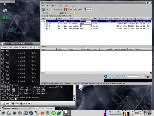 Kazaa lite & Linux