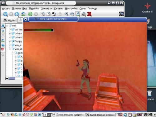 Tomb Raider Cronicles в Mandrake 9.1