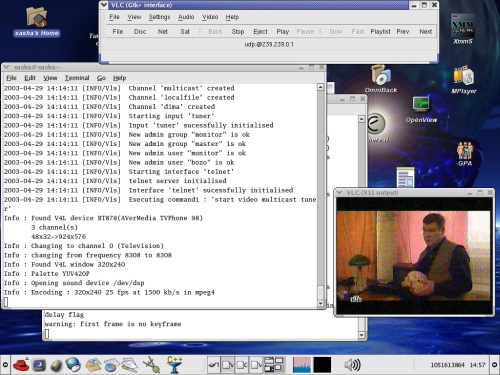 Realtime video in LAN ?? Linux can do it!