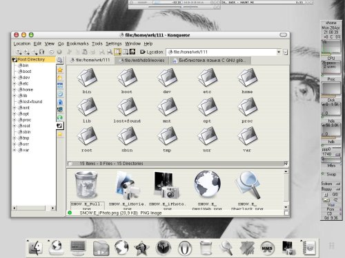 slackware 9; window maker; aqua-like
