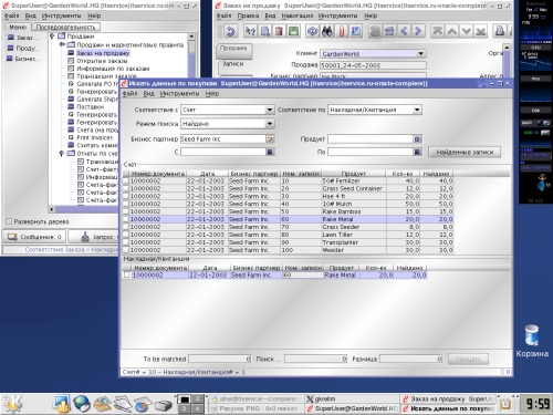 RHL9, Oracle, Compiere.