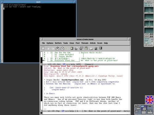 Обещанный скриншот fvwm2