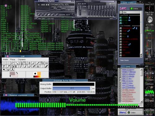Fluxbox+RedHat 9+Eterm