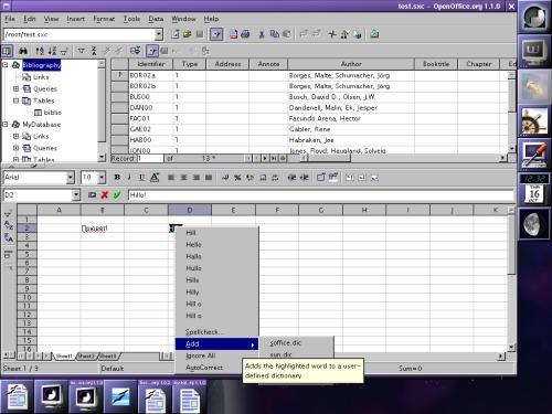OpenOffice 1.1.0
