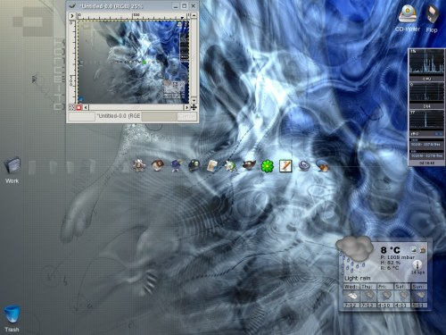 kde3.1 + liquid weather + plastik theme + творческий минимализм