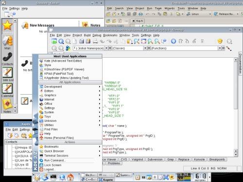 KDE 3.2b и KDevelop