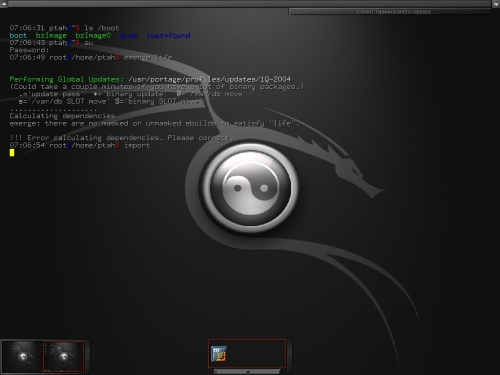 Gentoo 1.4-rc4 + Enlightenment