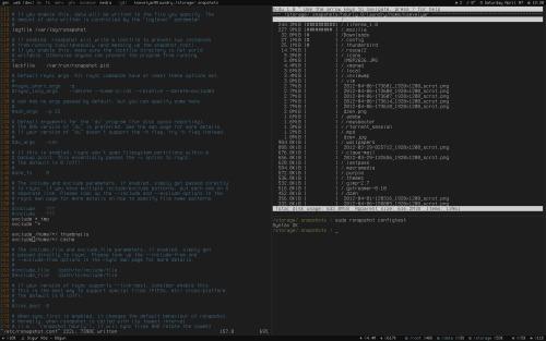 xmonad + dzen2— прощальный скриншот