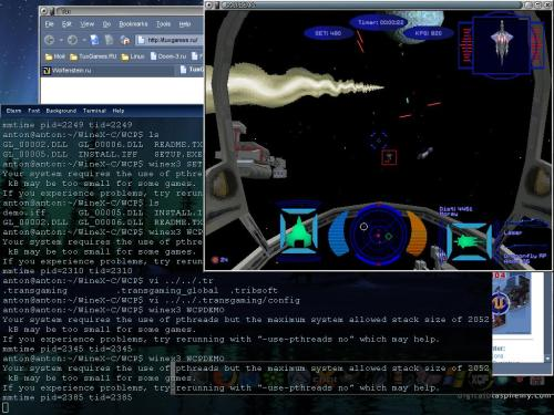 Wing Commander in Linux