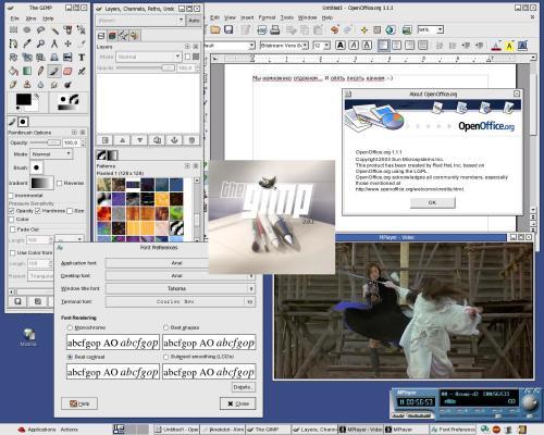 Fedora Core 2 на домашней машинке
