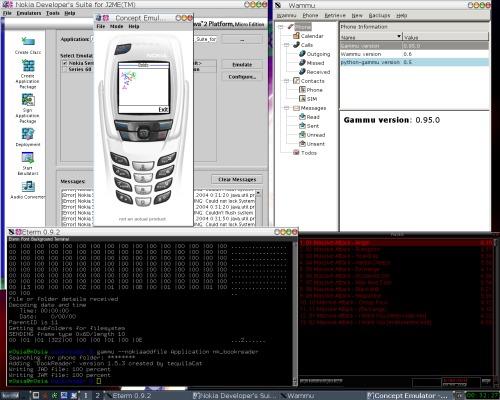 Сотовый телефон и линукс
