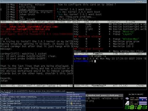 Emacs + Gnus + Fvwm