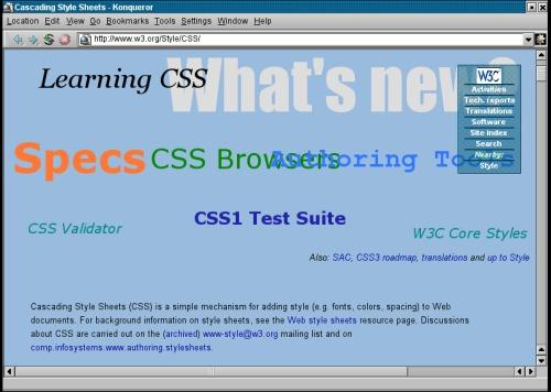 Konqueror + CSS