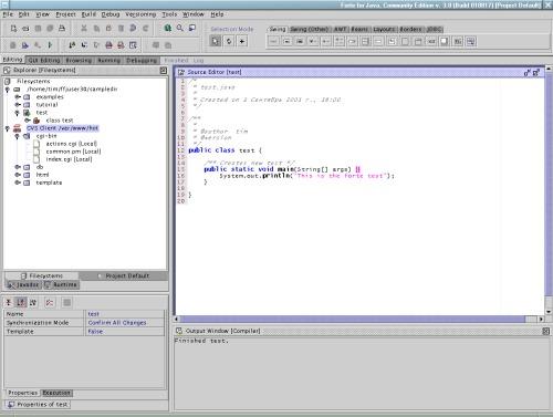Forte for Java v. 3.0