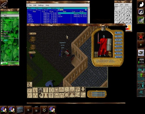 Ultima Online + wine = Пингвины Рулят!!! (С)