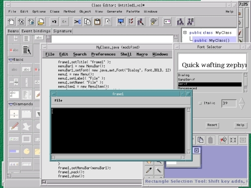 Visaj Visual application builder for java