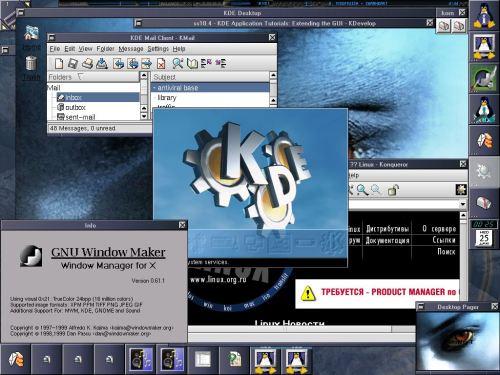 WM + KDE