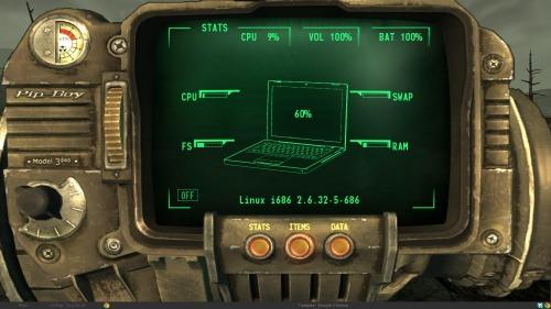 Pip-Boy 3000 на рабочем столе