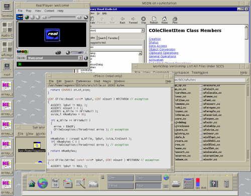 Еще один скриншот про Solaris