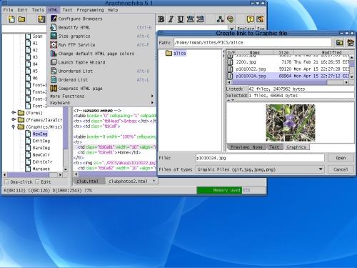 Arachnophilia теперь работает и в линуксе!