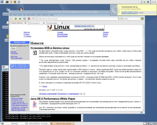 archlinux, xfce4, webkit, midori