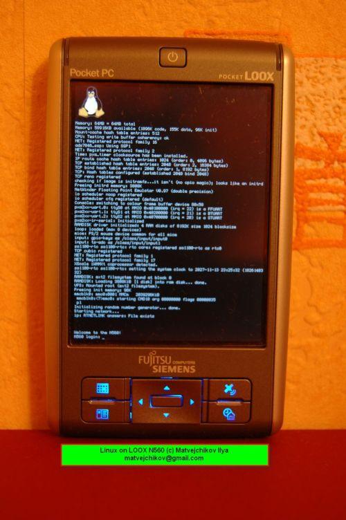linux на LOOX N560