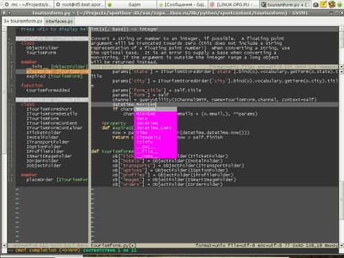 Vim, Python, coding...