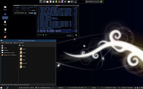 Debian GNU/Linux lenny, xfce
