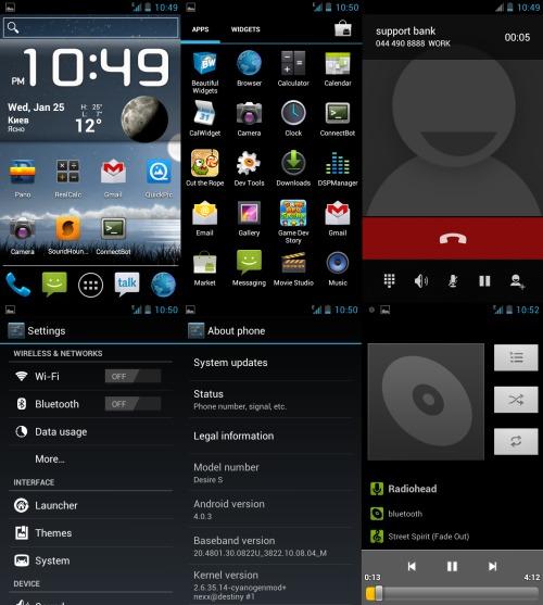 Cyanogenmod 9 Alpha on HTC Desire S