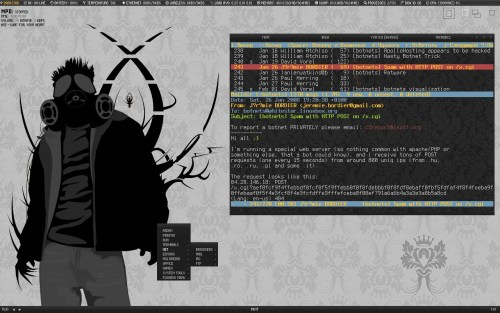 FreeBSD, Fluxbox + console apps