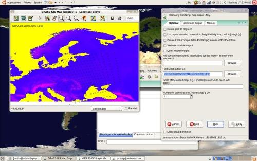 GRASS GIS 6.3 с интерфейсом wxPython