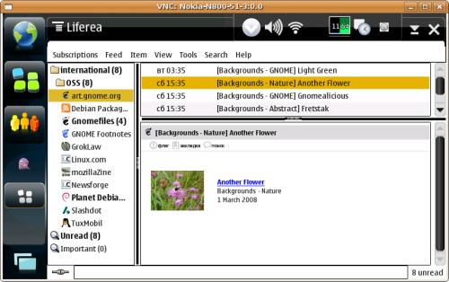 портировал liferea под n800/os2008