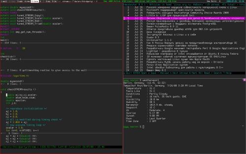 FreeBSD + Xmonad + Dzen