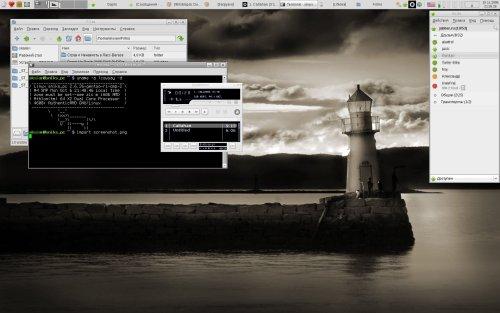 Лаконичный Gentoo+XFCE